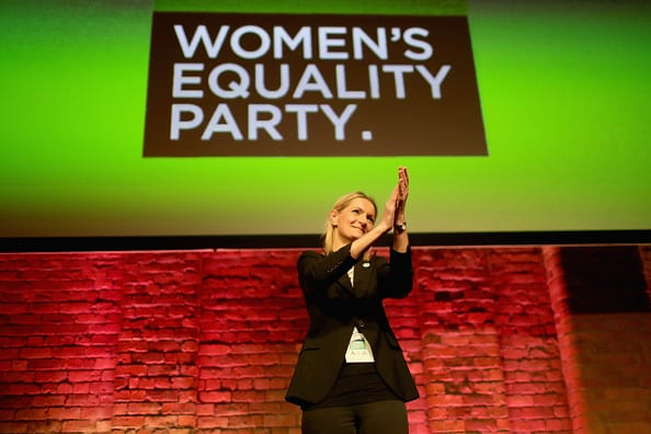 Sophie Walker, leader of the Women's Equality Party addresses delegates in Manchester during the party's first ever annual conference (Photo: Getty Images)