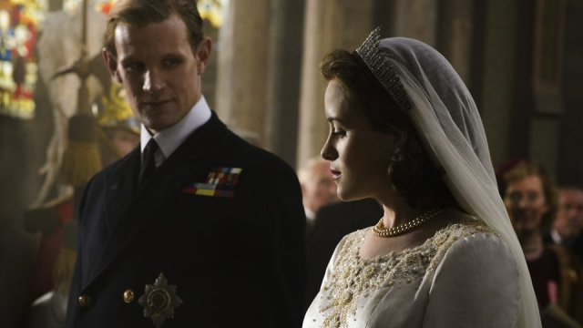 Claire Foy plays the Queen in 'The Crown'
