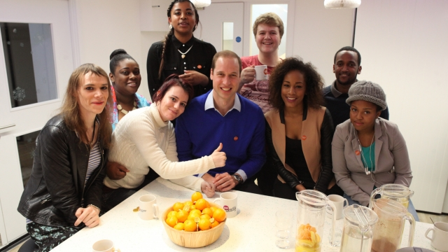 The Duke of Cambridge visits young people at a social enterprise cafe run by Centrepoint