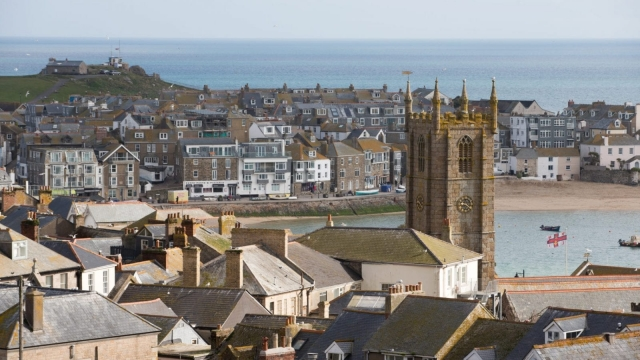 The morning sun illuminates St Ives in Cornwall. (Photo by Matt Cardy/Getty Images)
