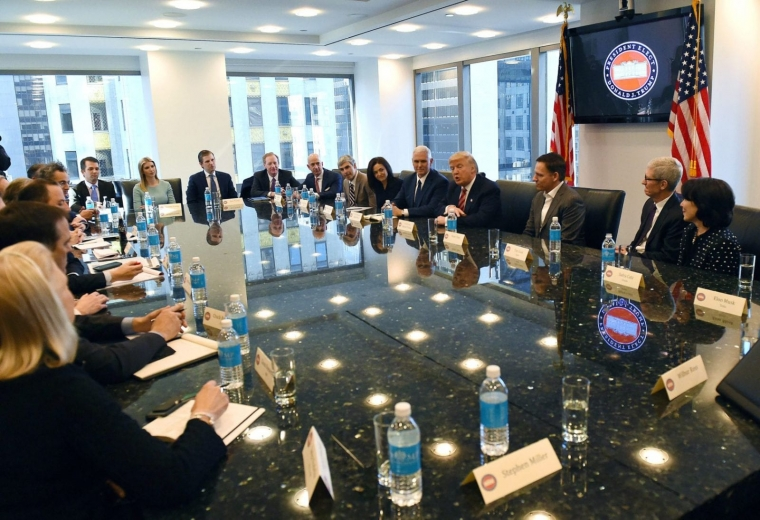 Tech CEO's meets with President-elect Donald Trump at Trump Tower December 14, 2016 in New York . / AFP / TIMOTHY A. CLARY (Photo credit should read TIMOTHY A. CLARY/AFP/Getty Images)