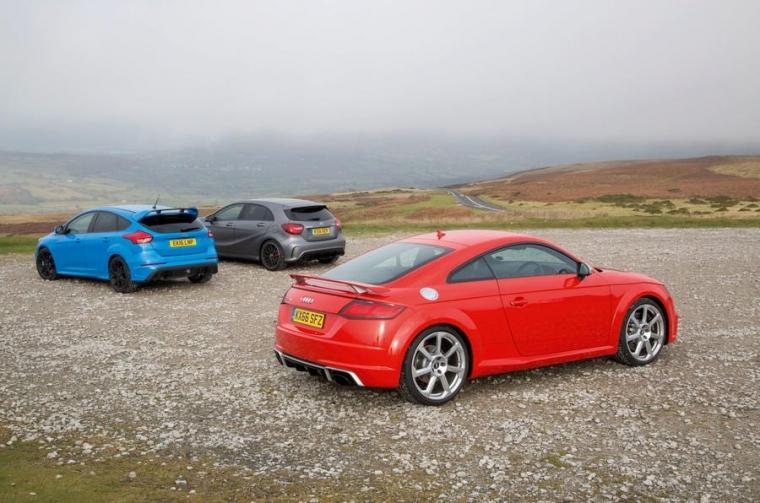 Audi TT RS v Ford Focus RS v Mercedes-AMG A45