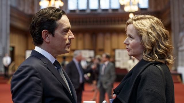 Ben Chaplin and Emily Watson in 'Apple Tree Yard', a BBC drama centred on a sexual assault and court case Photograph: BBC