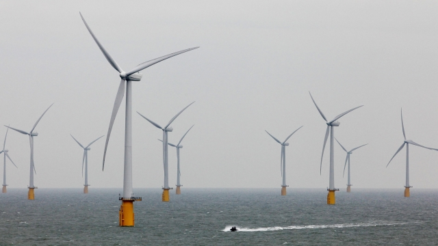 Renewable energy from sources such as wind turbines has risen to a new record level (PA)