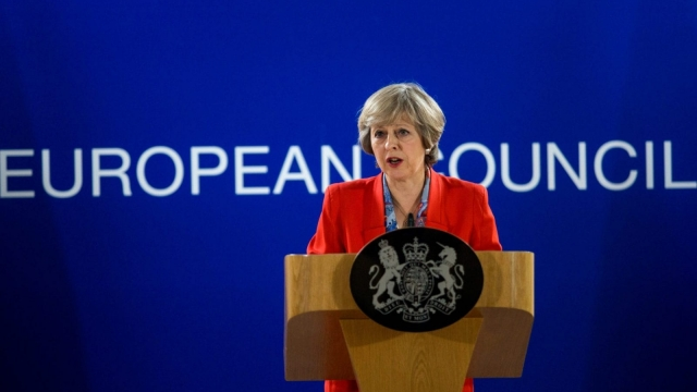 Theresa May: anxious to get election focus back to Brexit (Photo: Getty)