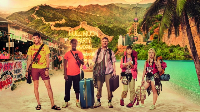 Anders Hayward, Ade Oyefeso, Tim Key, Alice Lee and Brittney Wilson star in 'Gap Year'