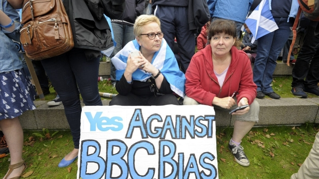 The BBC was accused of pro-Union bias during the 2014 independence referendum campaign in Scotland (Photo: Getty)