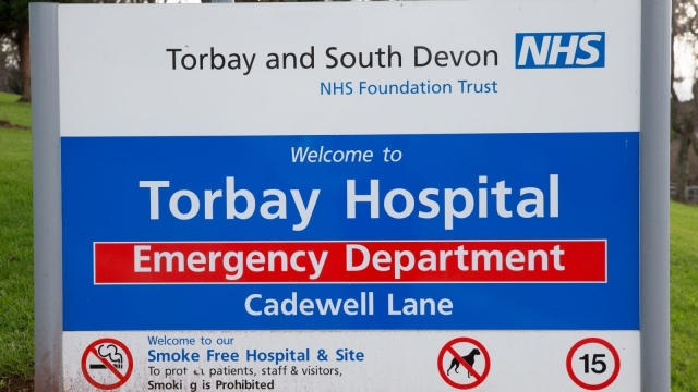 Torbay Hospital will lose 32 beds as part of the major reorganisation of healthcare in the region.