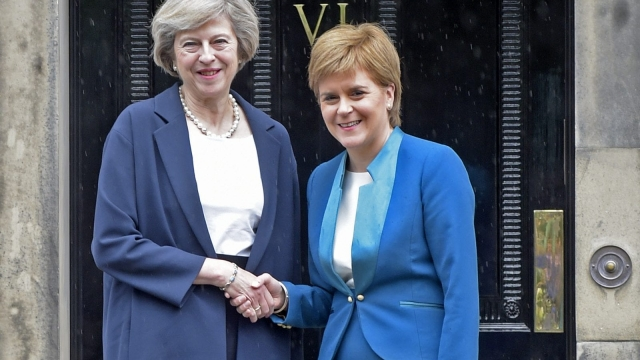 Article thumbnail: Downing Street is making preparations in case Nicola Sturgeon calls indyref2 soon (Photo: Getty)