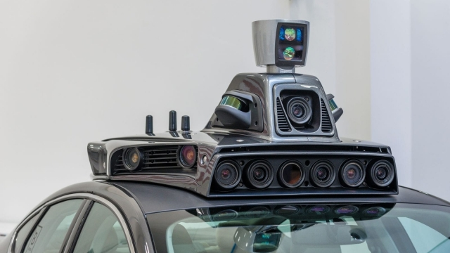 The cameras on a pilot model of an Uber self-driving car are displayed at the Uber Advanced Technologies Center on September 13, 2016 in Pittsburgh, Pennsylvania. Uber launched a groundbreaking driverless car service, stealing ahead of Detroit auto giants and Silicon Valley rivals with technology that could revolutionize transportation. / AFP / Angelo Merendino (Photo credit should read ANGELO MERENDINO/AFP/Getty Images)