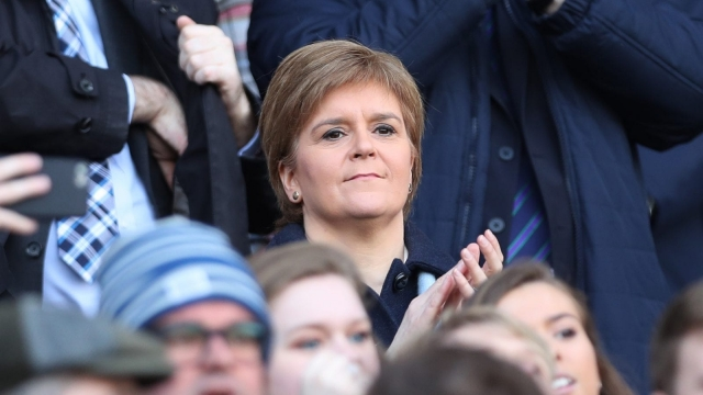 Nicola Sturgeon, seen here attending Saturday's Scotland v Wales rugby match at Murrayfield, wants Scotland to retain EU single market access (Photo: Getty)