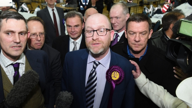 Ukip leader Paul Nuttall reportedly left the count after a 'media scrum' (Photo: PA)