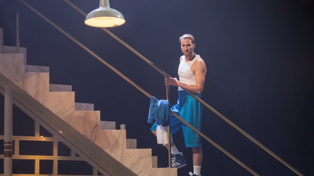 Oliver Chris plays Orsino in the National Theatre's high-energy production of 'Twelfth Night'. Photo: Marc Brenner