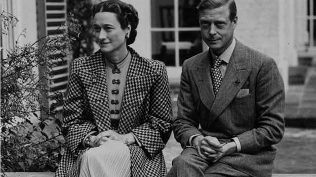 King Edward VIII with his lover Wallis Simpson