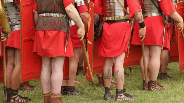Up to 500 Roman legionnaires are thought to have been based at the garrison town of Chester-le-Street. Each day, up to half would have wanted to use the baths discovered in one of the town's residential streets. (Photo by Oli Scarff/Getty Images)