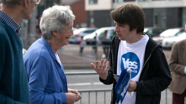 The strong grassroots nature of the Yes campaign may prove crucial again (Photo: Getty)