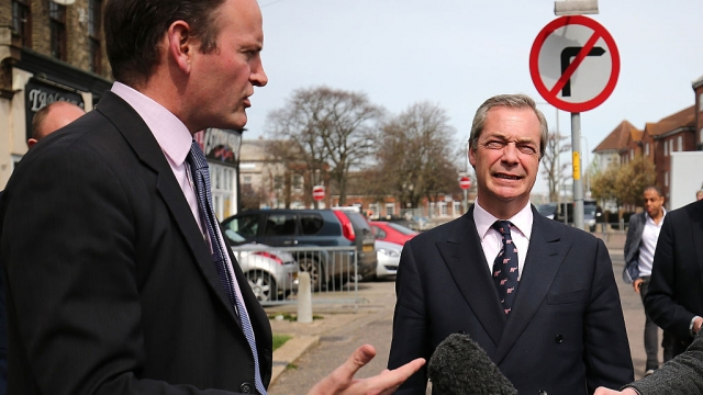 Nigel Farage and Clacton MP Douglas Carswell in happier times for the pair, campaigning in 2015