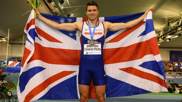 Andrew Pozzi beat the defending champion to win the 60m hurdles at the European indoors in Belgrade
