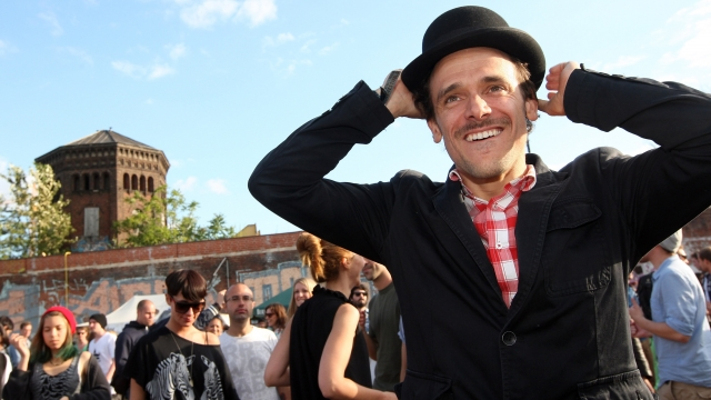 An attendee at the Berlin Hipster Olympics (Photo: Adam Berry/Getty Images)