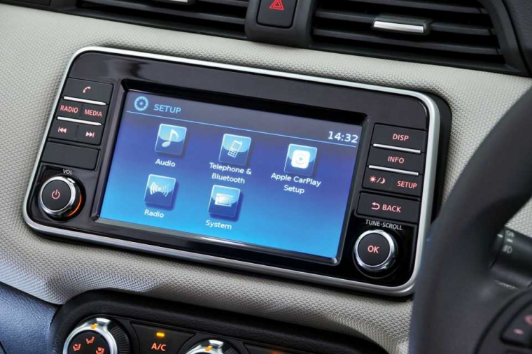 Nissan Micra infotainment