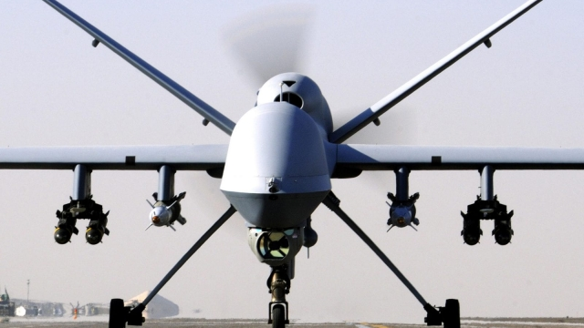 An RAF Reaper drone similar to the one used to kill a British jihadi in an unprecedented strike in Syria. Reyaad Khan was a prolific recruiter and attack planner for Islamic State, a major new report reveals. (Photo: PA)