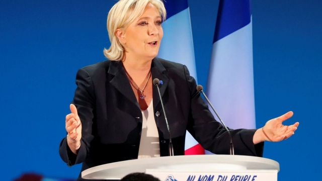 Marine Le Pen came second in Sunday's first round of the French presidential election with 21.3 per cent of the vote - her rival Emmanuel Macron took 24 per cent. (Photo: REUTERS/Charles Platiau)