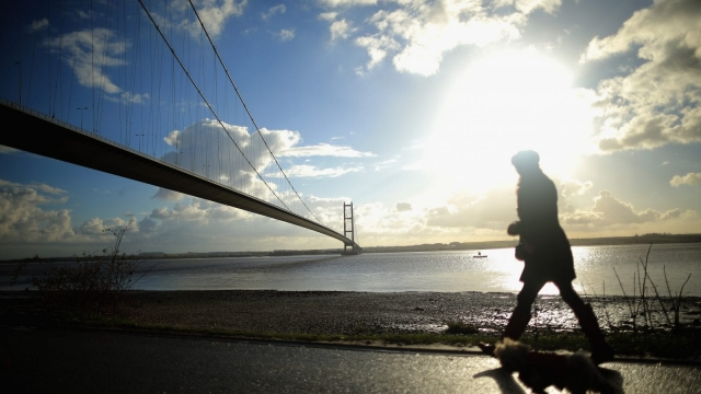 The Humber Bridge. (Photo by Christopher Furlong/Getty Images)