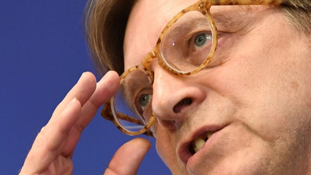 Guy Verhofstadt :Losing patience with the UK (EMMANUEL DUNAND/AFP/Getty Images)