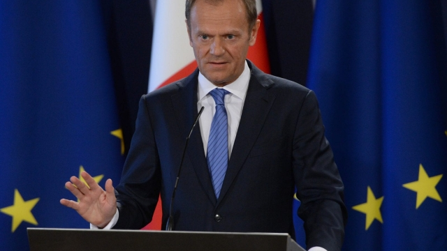 """President of the European Council, Donald Tusk, said a """"firm and fair"""" mandate had been set (Picture: Getty Images)"""