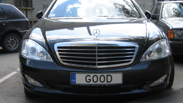 Personalised number plate [Photo: Denis Alexeyev]