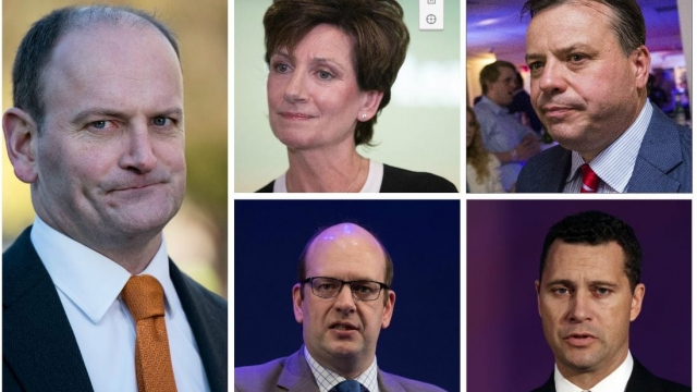 Article thumbnail: (Clockwise from left) Douglas Carswell, Diane James, Arron Banks, Steven Woolfe and Mark Reckless have all left the party (Photo: Getty)