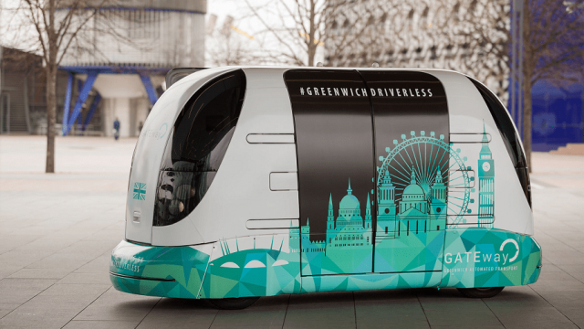 Oxbotica's driverless shuttle will be tested in Greenwich over the next three weeks (Photo: Oxbotica)