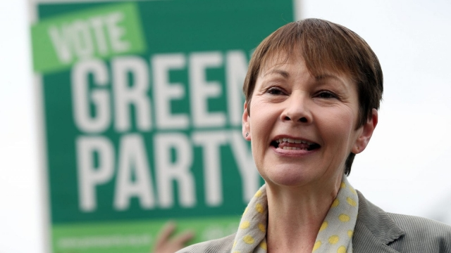 Caroline Lucas, the Green Party co-leader, had to clarify her position after her interview (Photo: PA)