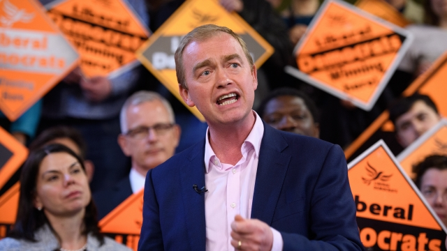 Tim Farron has urged voters to change Britain's opposition, but appears resigned to not winning power (Picture: Getty Images)