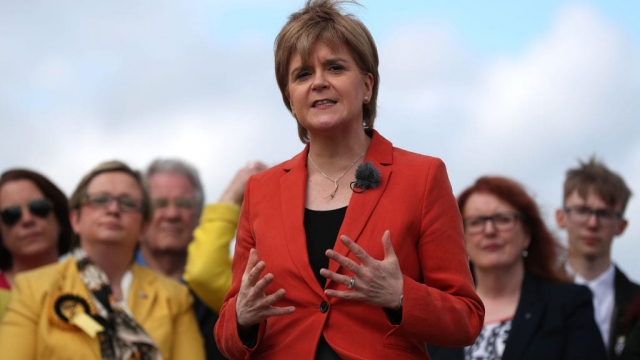 Nicola Sturgeon: open to a 'progressive alternative' to the Tories (Photo: Getty)