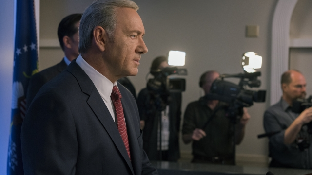 President Frank Underwood had a lot on his plate in season five - but still manages to control the chaos (Photo: David Giesbrecht / Netflix)