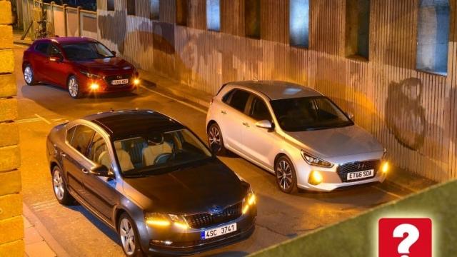Article thumbnail: Hyundai i30, Skoda Octavia, Mazda 3