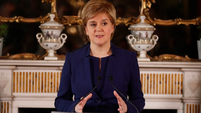Nicola Sturgeon speaking at her official residence of Bute House in Edinburgh (Photo: PA)