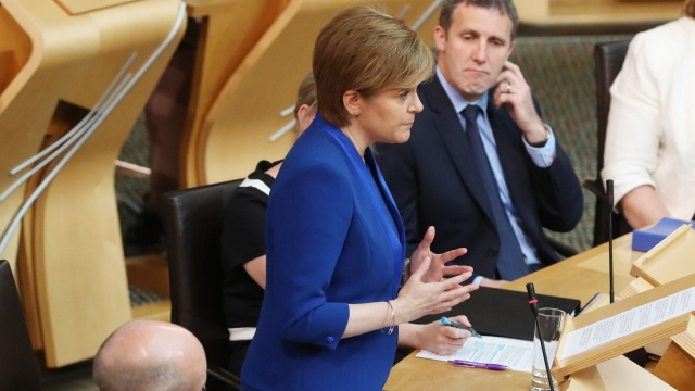 Nicola Sturgeon announced the delay to indyref2 in a statement to MSPs (Photo: PA)