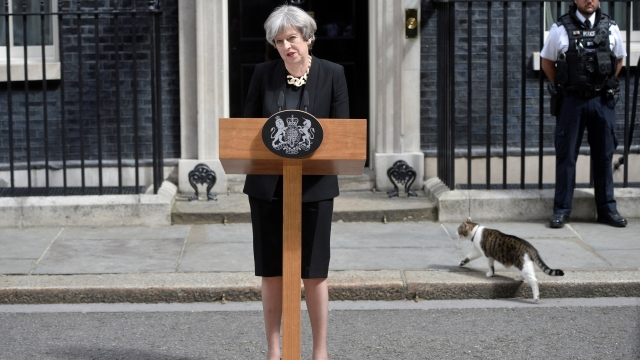 Prime Minister Theresa May speaks outside 10 Downing Street after the attack on London Bridge and Borough Market