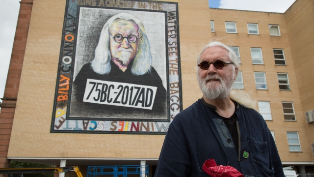 """Billy Connolly has spoken of the """"profound"""" effect of the murals on him (Photo: Martin Shields)"""