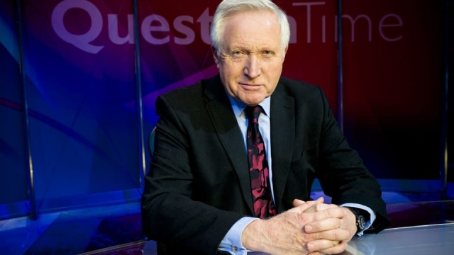Question Time host David Dimbleby (Photo: BBC)