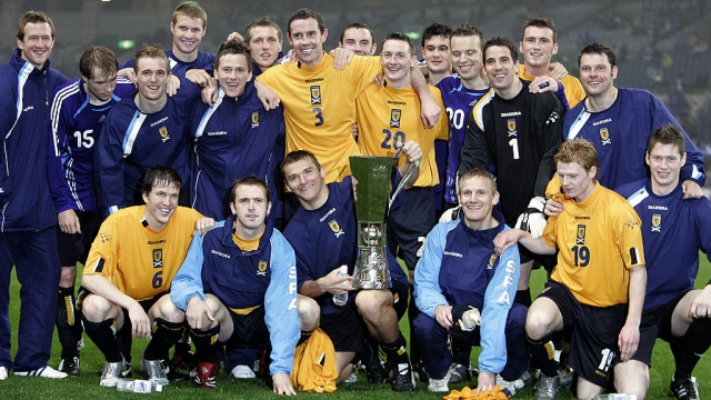Scotland's last silverware, the 2006 Kirin Cup - but it could just as well be the UFWC title