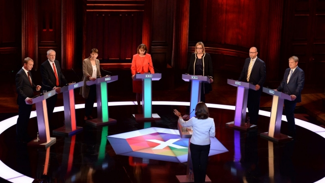 The leaders' debate - and Theresa May's refusal to take part in it - was one of the most memorable moments of the campaign. Photo: Getty