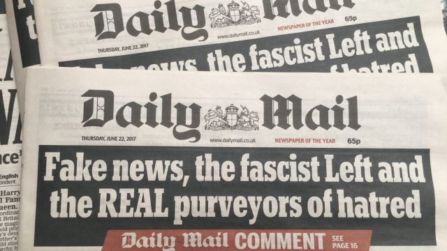 Fake news, the fascist Left and the REAL purveyors of hatred: Thursday's Daily Mail attacks The Guardian