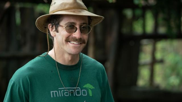 Jake Gyllenhaal plays a deranged zookeeper in 'Okja'. Photo: Netflix