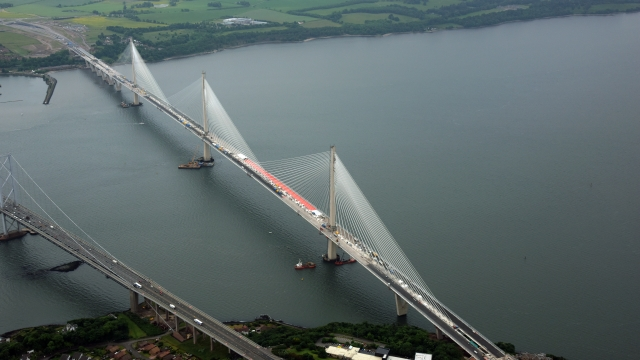 The Queensferry Crossing is set to open on 30 August (Photo: Transport Scotland)