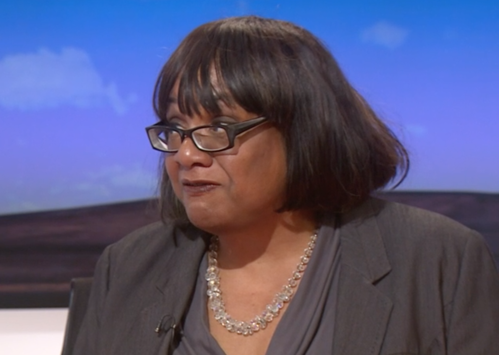Diane Abbott has backed a second referendum (Image: Sky News)