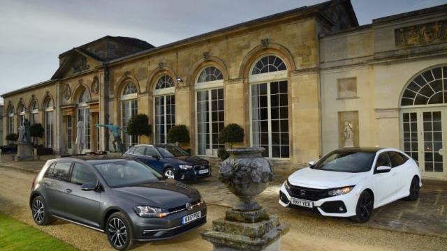 Article thumbnail: Honda Civic v VW Golf v Audi A3 Sportback