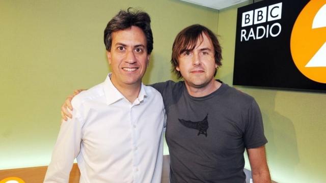 Ed Miliband in the Radio 2 studio